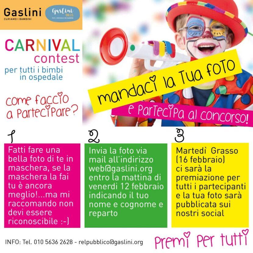 carnival contest Gaslini